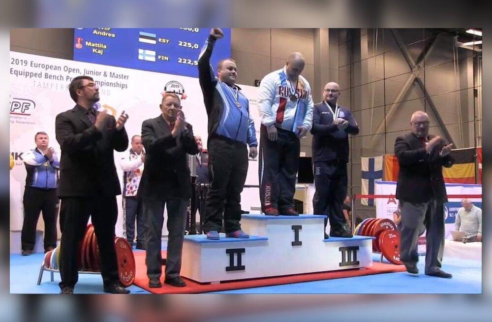 Eesti võitis jõutõstmise EM-il kaks hõbedat