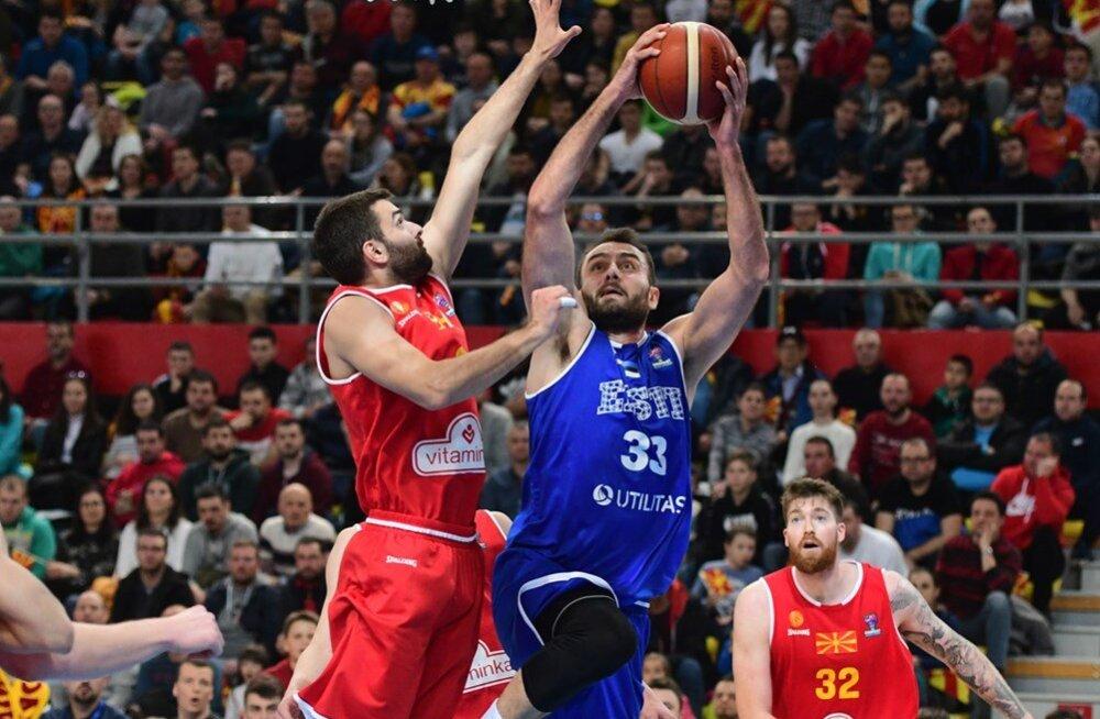 Võit Põhja-Makedoonia üle ei aidanud Eesti korvpallikoondist maailma edetabelis kõrgemale