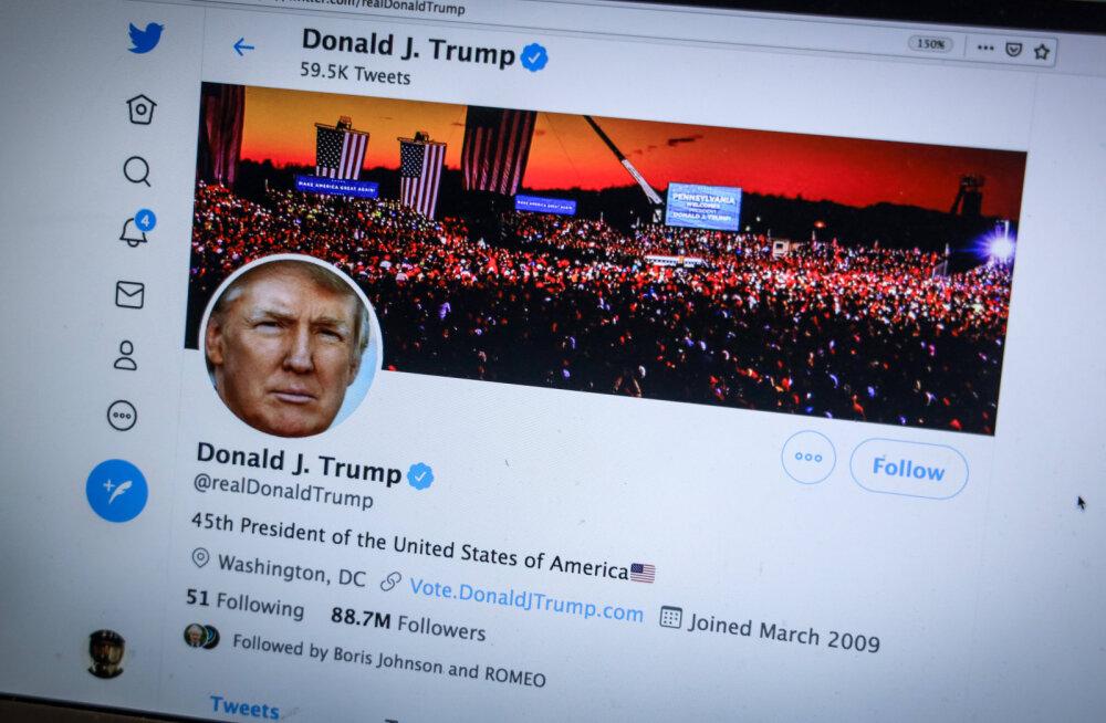 Twitter sulges president Trumpi konto jäädavalt