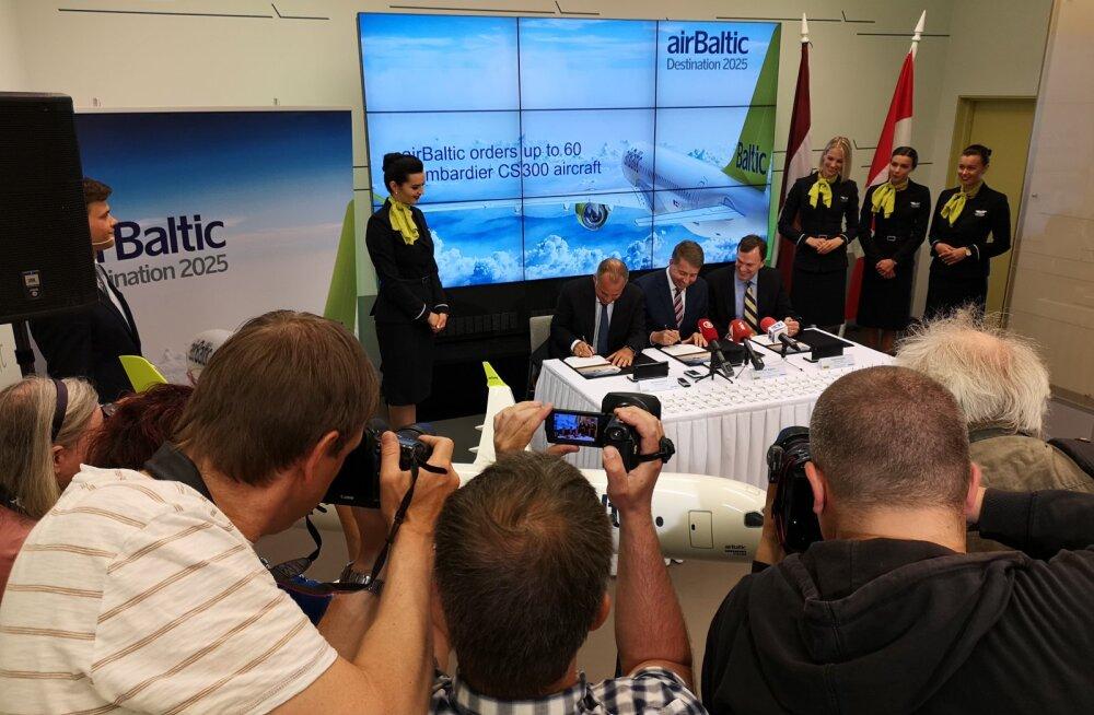 Lätlaste megatehing: Air Baltic läheb täielikult üle Bombardieridele, uue lennukipargi turuväärtus küündib 5 miljardi euroni