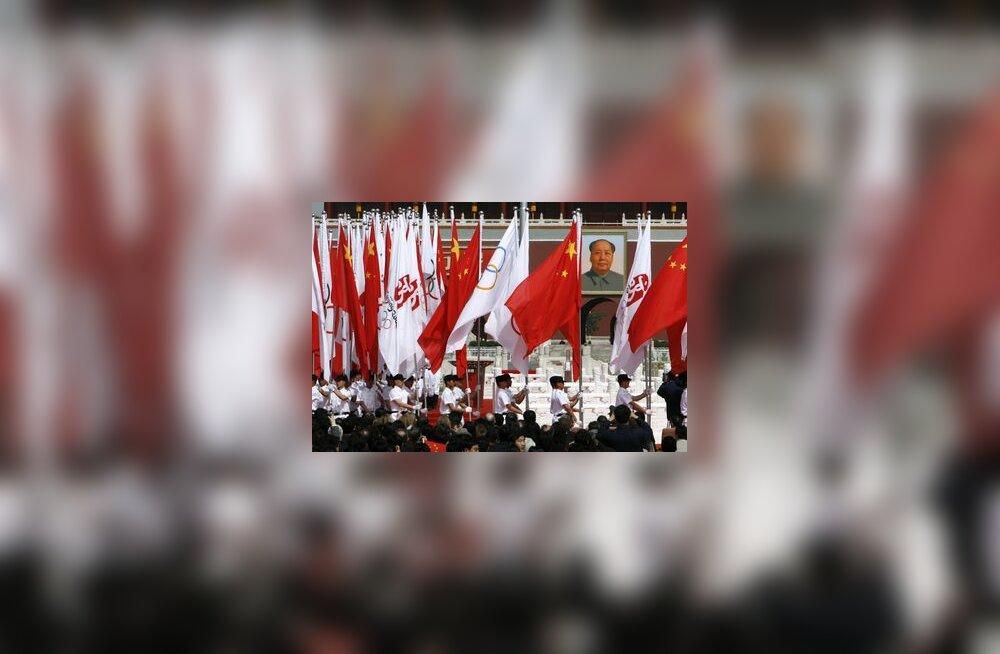 Hiina, Mao Zedung, olümpia, Peking, lipp
