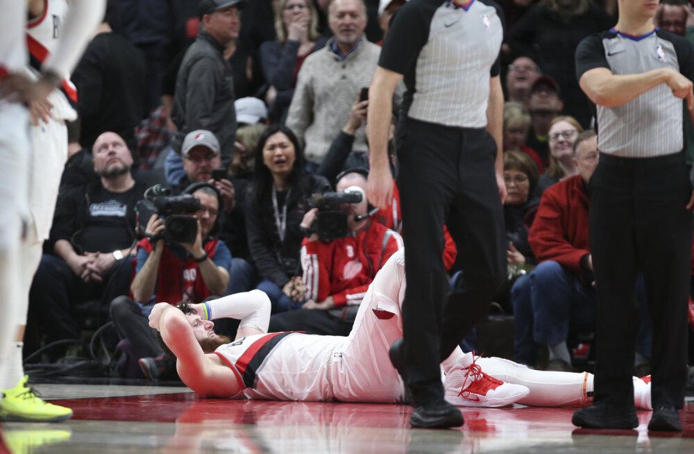 VIDEO | Ränk vigastus NBA-s: bosnialasest tsenter murdis mängus jalaluu