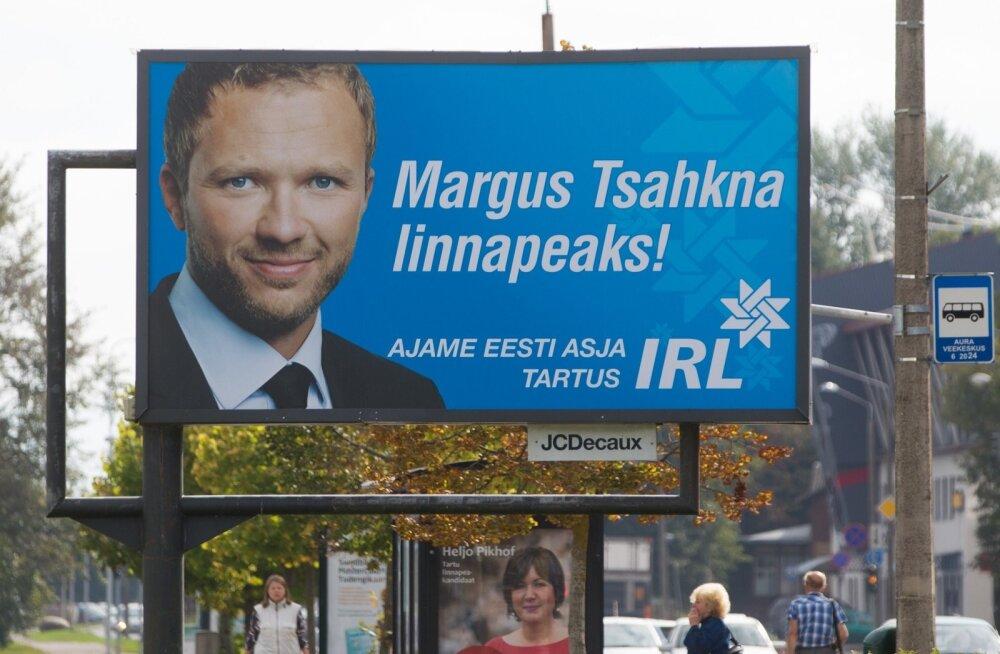 Valimisreklaamid Tartus