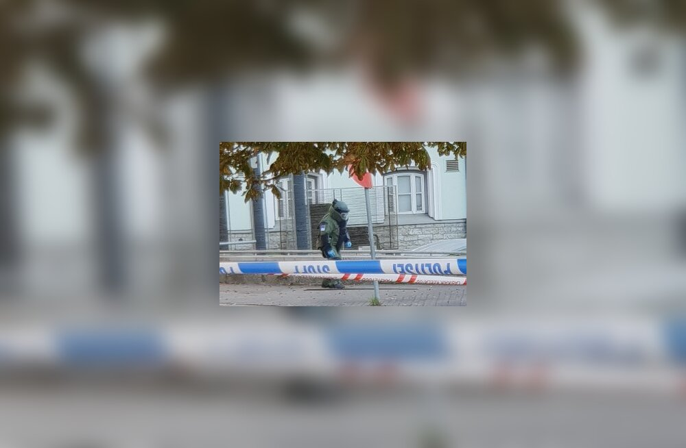 FOTO | Pommikahtlus Tallinna südames: kontrolliti kahtlast kotti