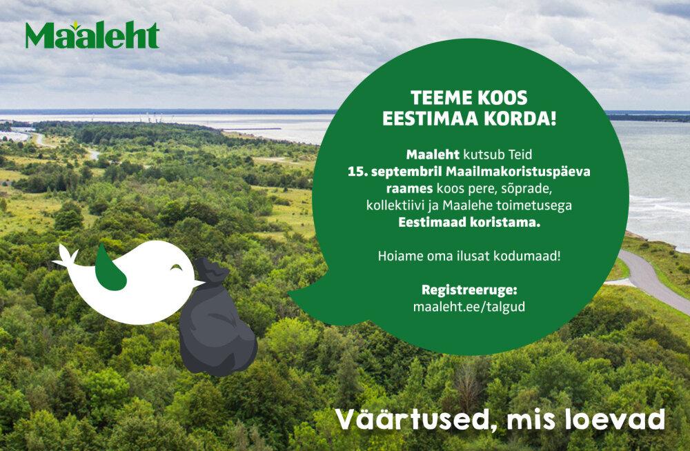 Tule septembris koos Maalehega Eestimaad puhastama!