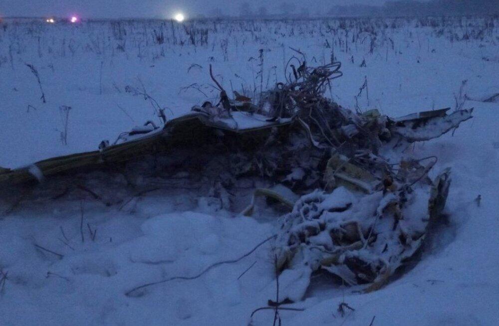 Moskva lähedal alla kukkunud reisilennuk ei purunenud esialgse versiooni järgi õhus