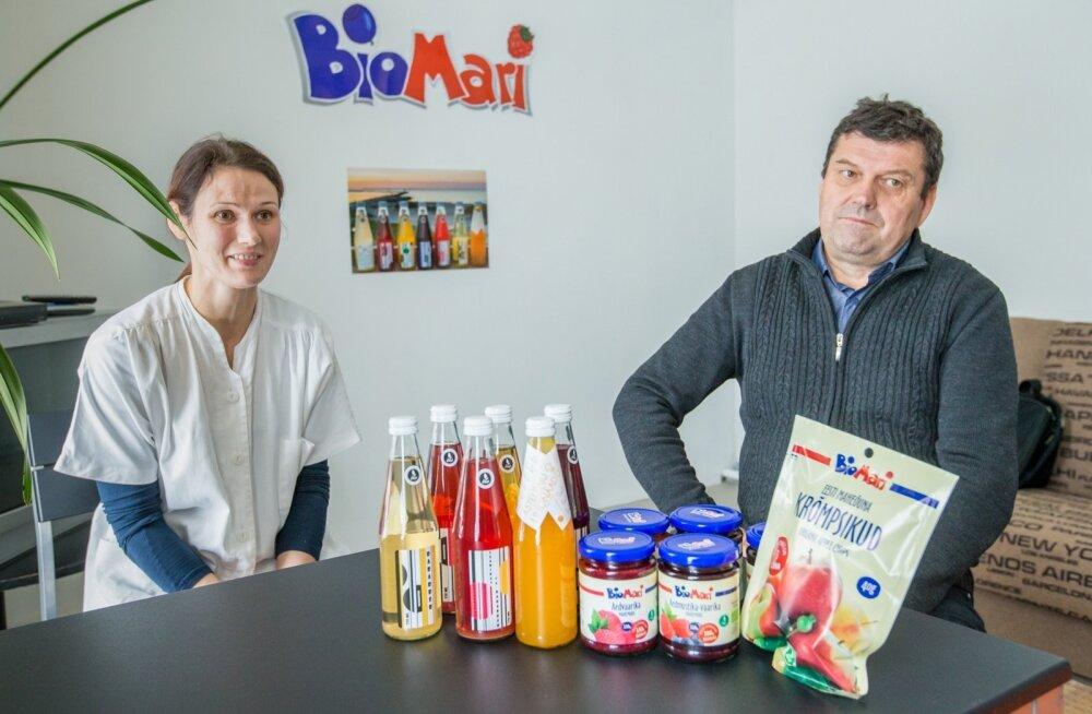 Pereettevõtet BioMari veavad isa ja tütar– Kalle ja Triin Ojanurme.