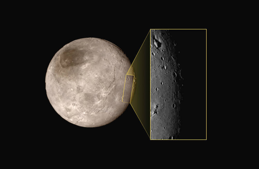 Müstiline: Pluuto kuu pealt leiti mägi, mis paikneb keset auku