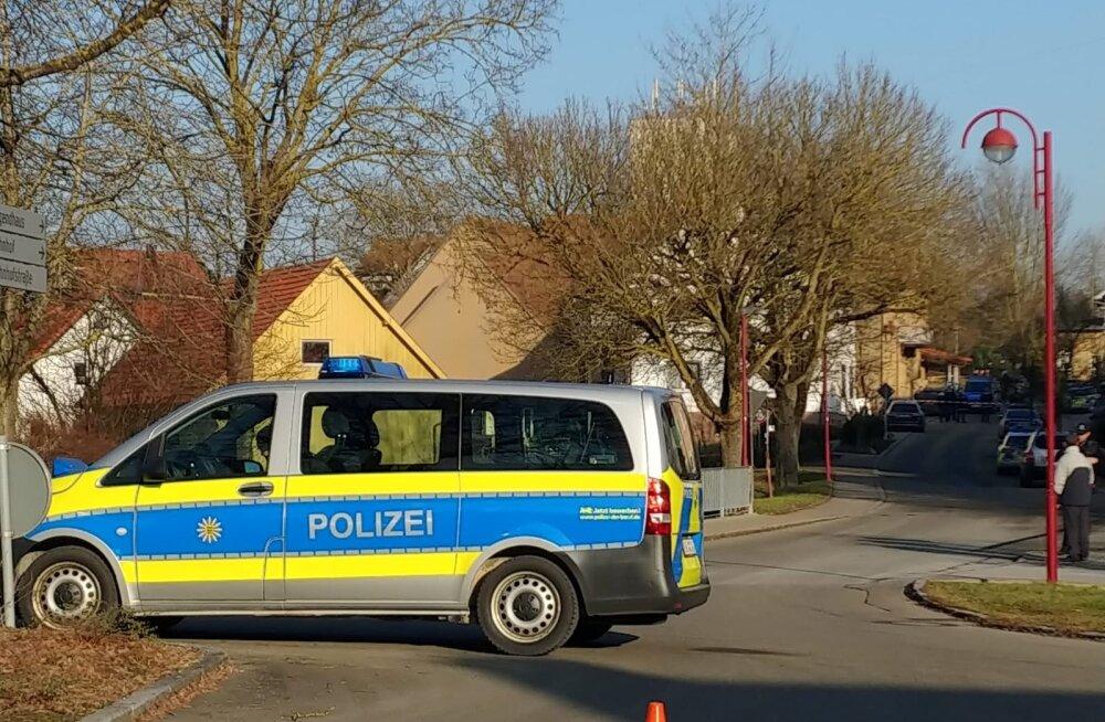 Politsei Rot am See linnas külalistemaja juures, kus toimus tulistamine