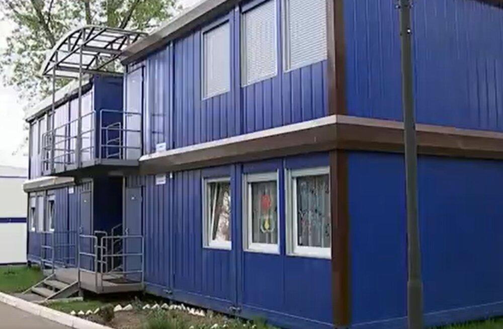 ВИДЕО | Первый канал показал квартиры для российских военных, похожие на строительные бытовки