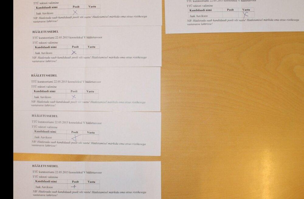 FOTO SEDELITEST: TTÜ valimiskomisjon rektori valimisel valskust ei näinud