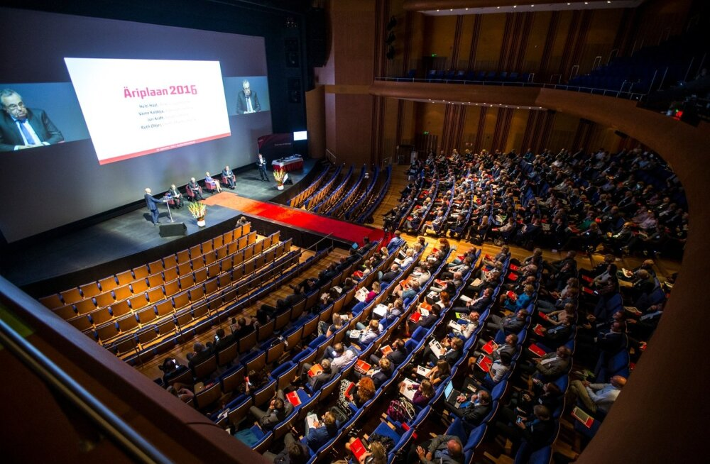 Suur osa Eesti ärieliidist kogunes eile Nordea kontserdisaali tuleva aasta plaane arutama.
