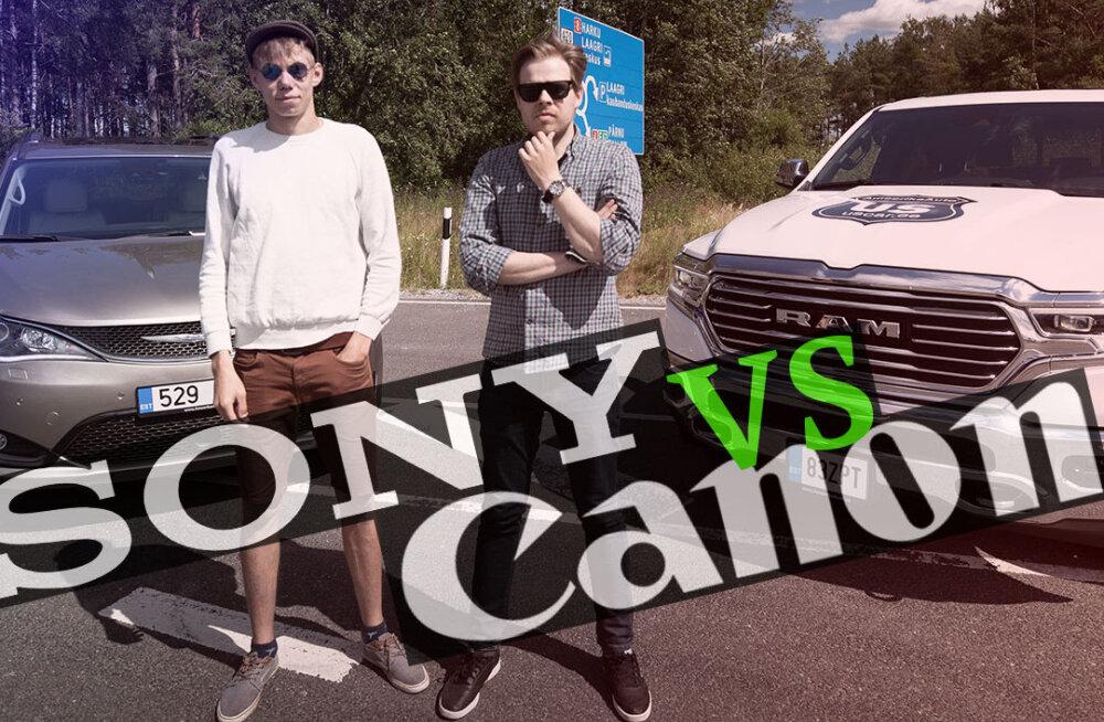 Kumb teeb paremaid kaameraid: Kas Sony või Canon?