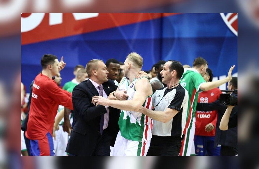 Rüseluse hetk CSKA - Unicsi mängus