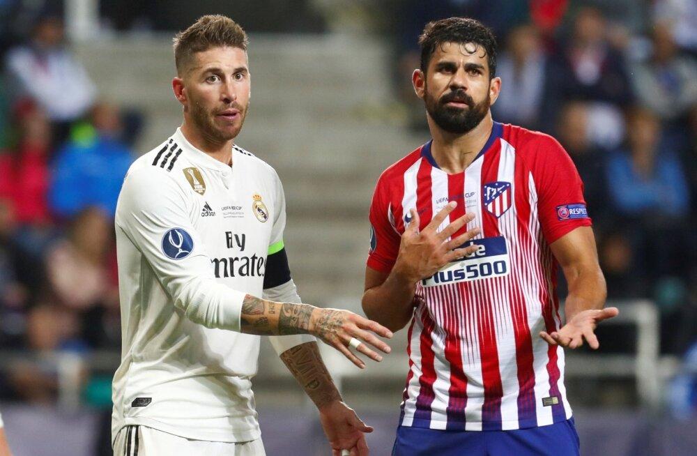 Sergio Ramos ja Diego Costa Lilleküla staadionil.