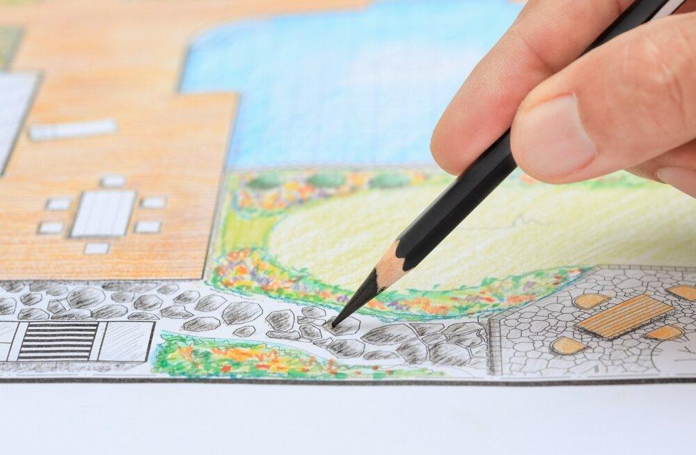 Talvel on aega aiakujundusega tegelda ja plaane võib joonistada isegi mitu.