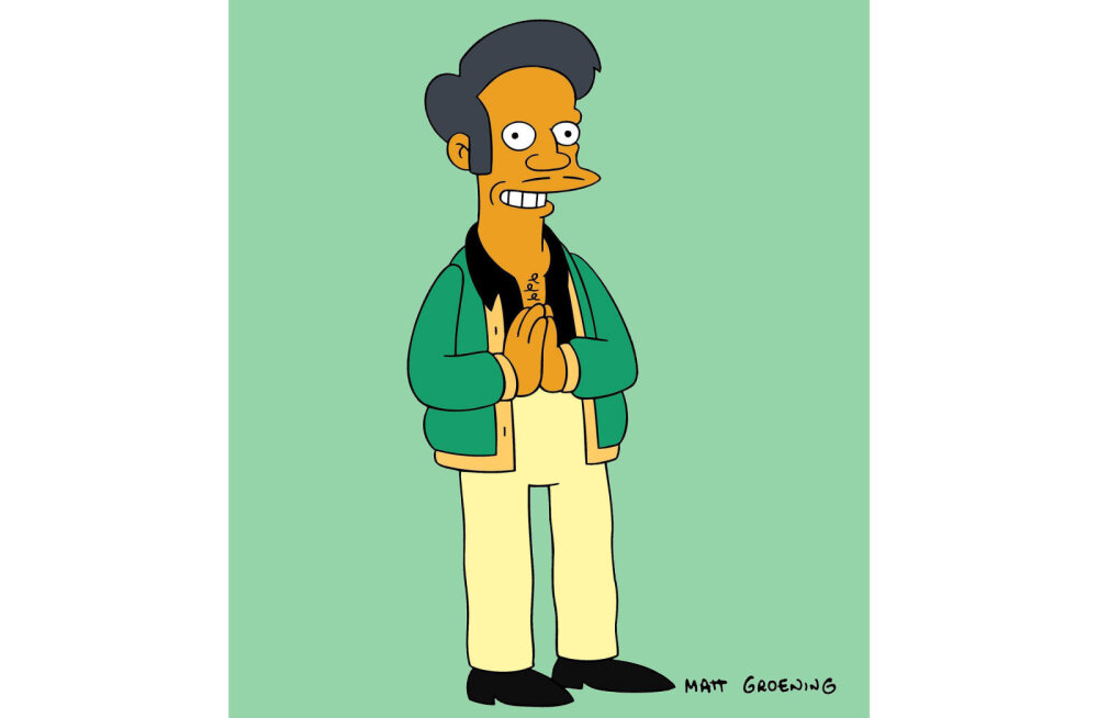 """""""Simpsonid"""" vandusid rassismisüüdistustele alla! Apu kirjutatakse sarjast ilma suurema kärata välja"""