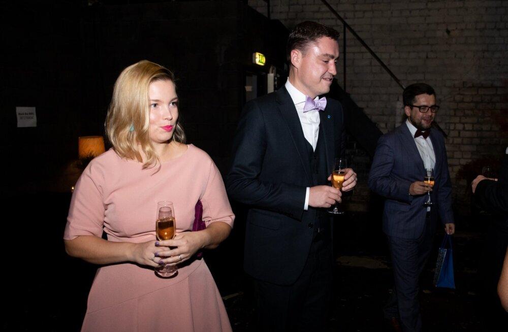 Luisa ja Taavi Rõivas Siim Kallase 70. juubeli peol