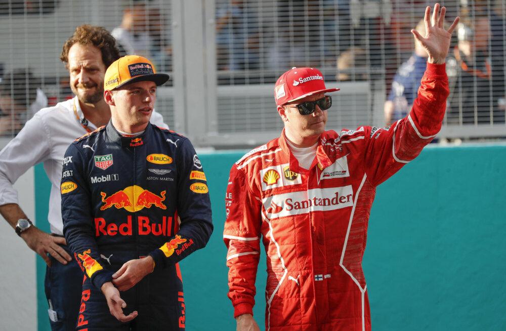 Valitsev maailmameister Verstappeni skandaalsest möödasõidust: süüdi oli hoopis Räikkönen