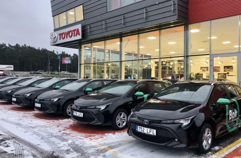 ФОТО: Bolt пополнил свой автопарк в Эстонии десятками гибридных автомобилей