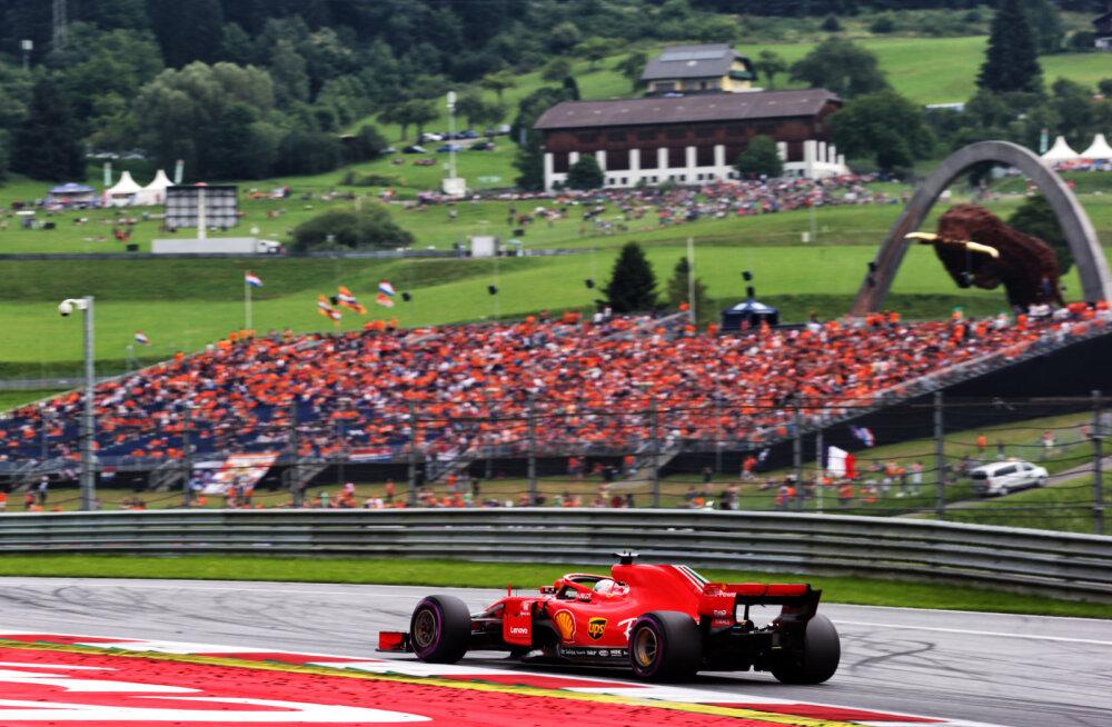 Austria GP viimase vabatreeningu võitis Vettel