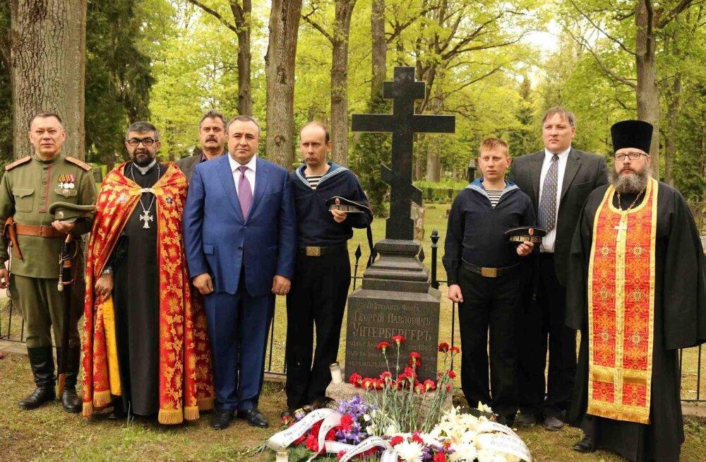 В Тарту освятили восстановленные могильные памятники времен Царской России