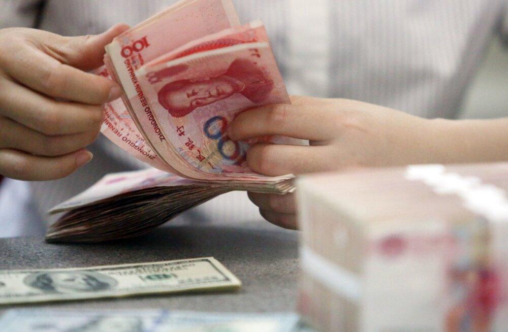 Hiina valuuta jüaan (renminbi).