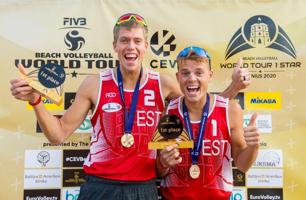 Mart Tiisaar ja Kusti Nõlvak teenisid Vilniuses karjääri esimese MK-etapi võidu.