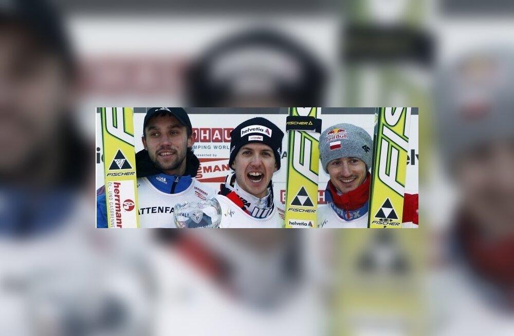 Nelja hüppemäe turneel võidutses Simon Ammann