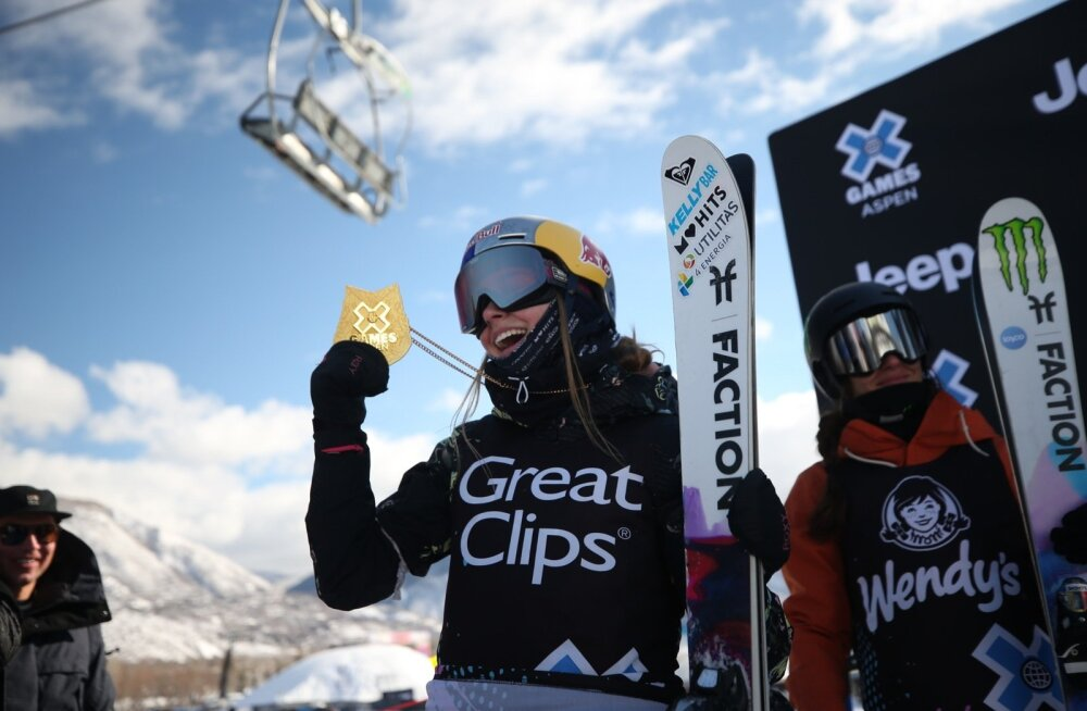 Kelly Sildaru sai karjääri kolmandat X-Mängude kuldmedalit demonstreerida kohe finišialal.