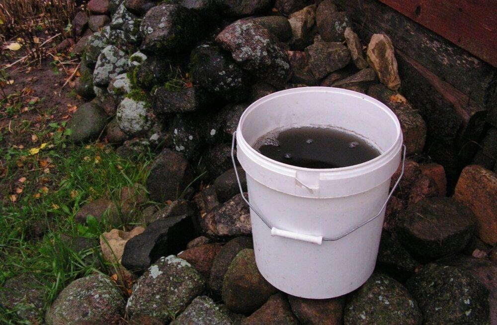 Must vihmavesi Järvamaal