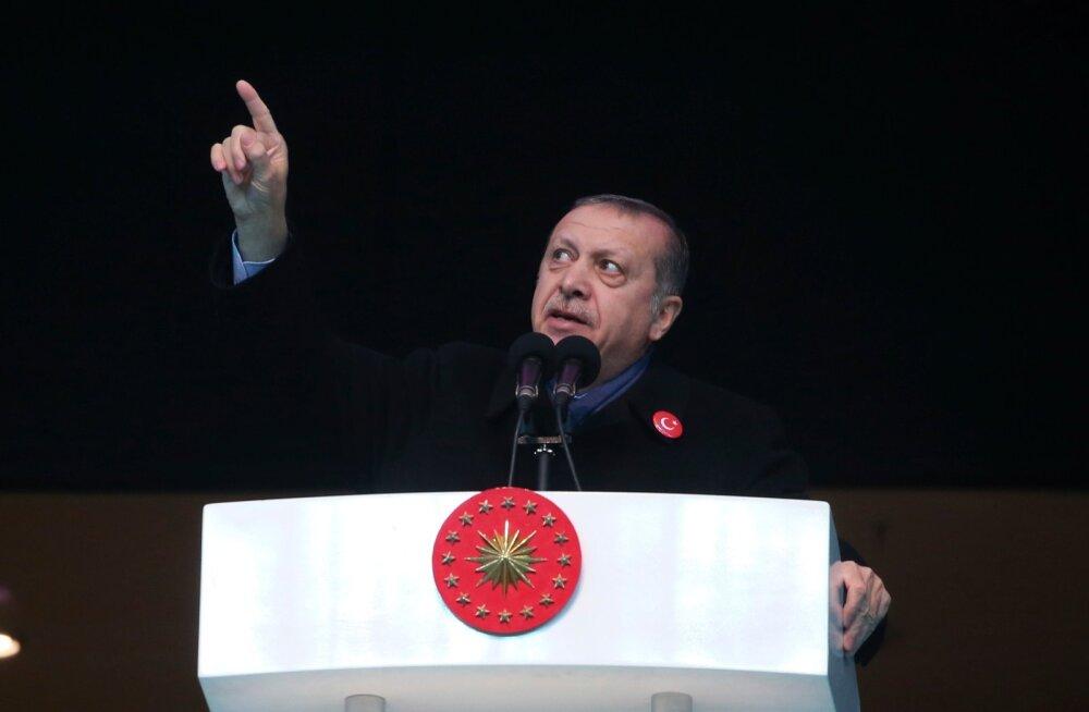 Erdoğan: USA juhitud koalitsioon toetab Süürias terrorirühmitusi