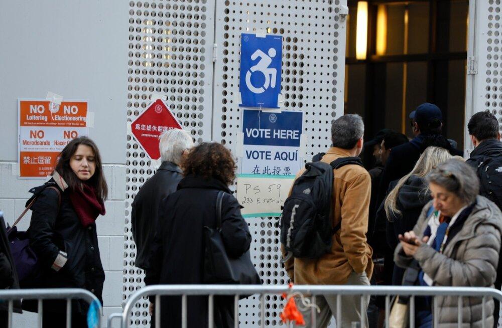 USA NY valimispäev 8.11.2016