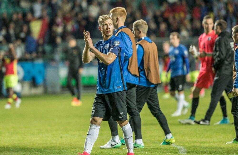 8c0a108d860 Eesti jalgpallikoondis kaotas 2018. aasta MM-valikmängu Lilleküla  staadionil Belgiale 0:2.