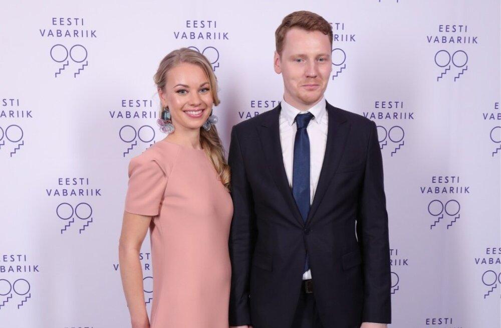 Näitleja  Hendrik Toompere jr ja pr Maria Toompere