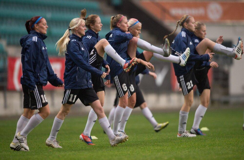 Pärnu Jalgpalliklubi naiskonna treening