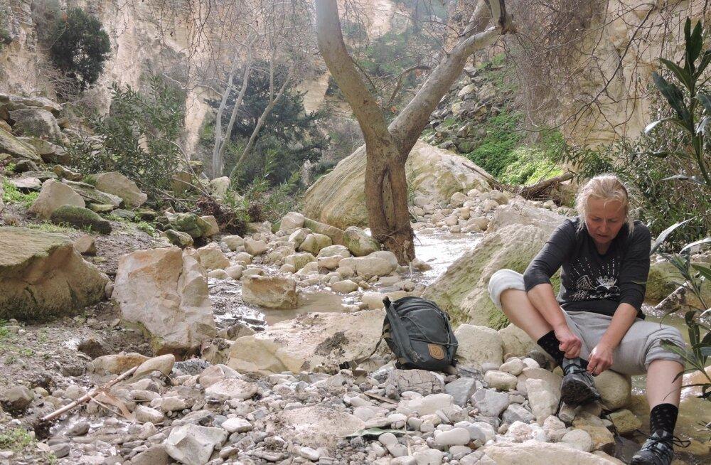 Nele Tamm on Küprosel vabatahtlikuks, kuid nädalavahetusi kasutab matkamiseks, näiteks Avakas Gorge kanjonis.