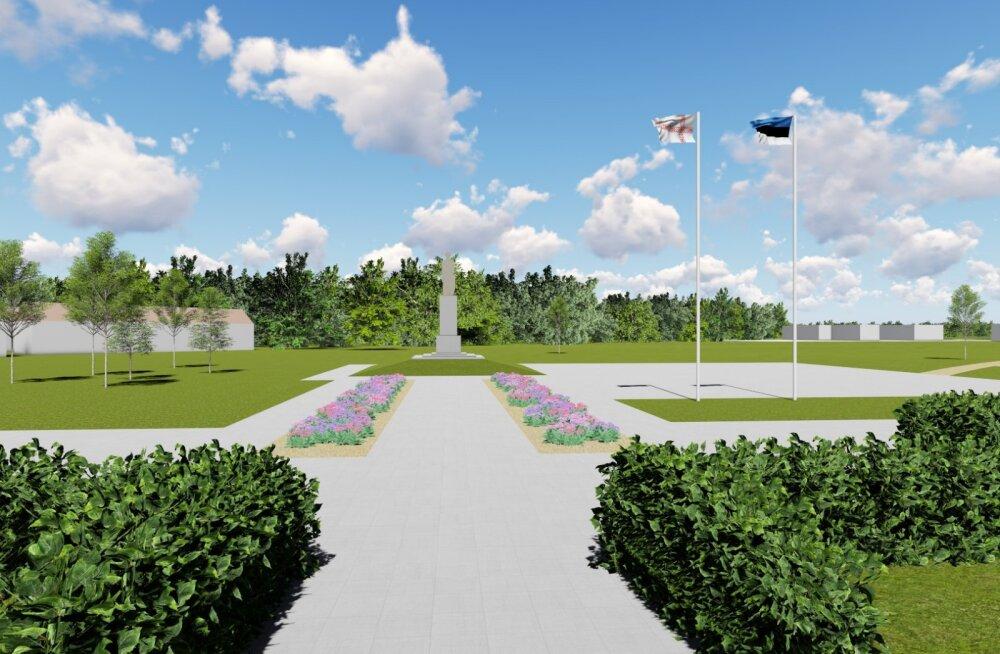 Värskasse plaanitakse püstitada Petserisse kavandatud Vabadussõja monument
