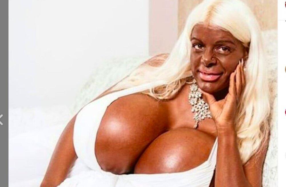 FOTOD | Rassi vahetanud strjuuardess Martina tegi oma gigantse rinnapaari veelgi suuremaks, eesmärgiks 80 kilo rinda