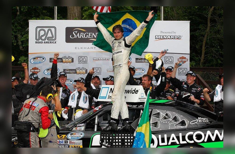 Nelson Piquet Jr. juubeldab NASCAR Nationwide sarja etapivõitjana
