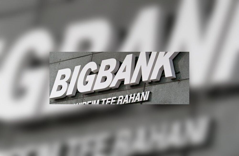 BIGBANKi esimese kvartali kasum oli 11,4 miljonit krooni