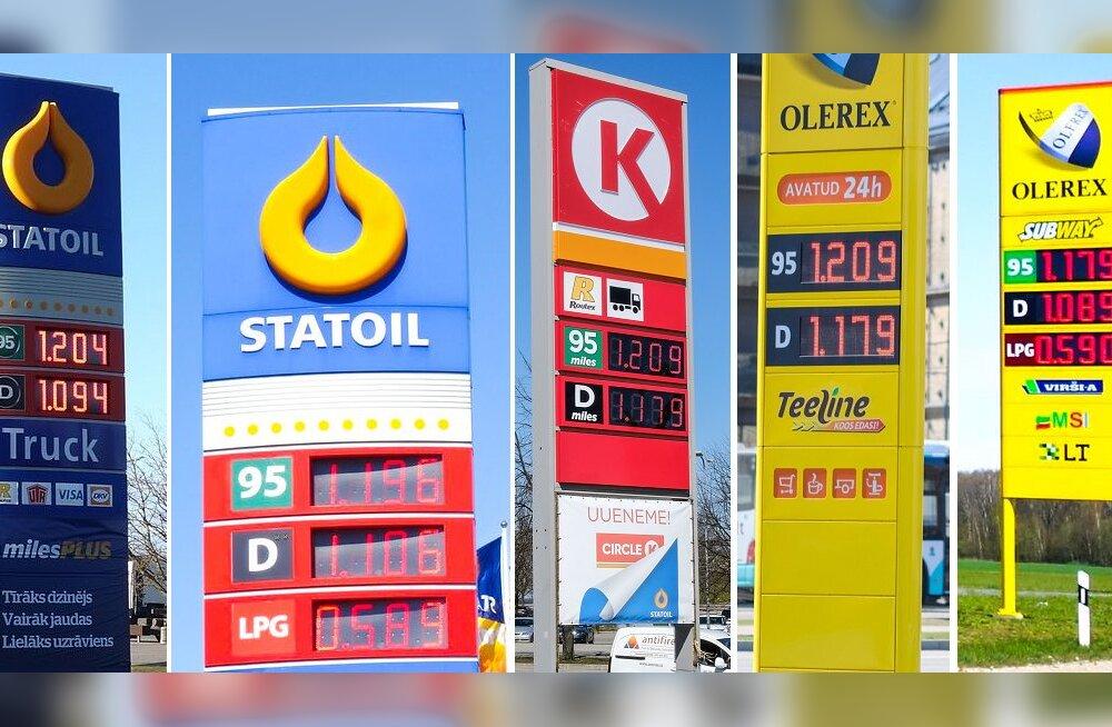 FOTOD: Vaata, millise hinnaga müüakse kütust Eestis, Lätis ja Leedus