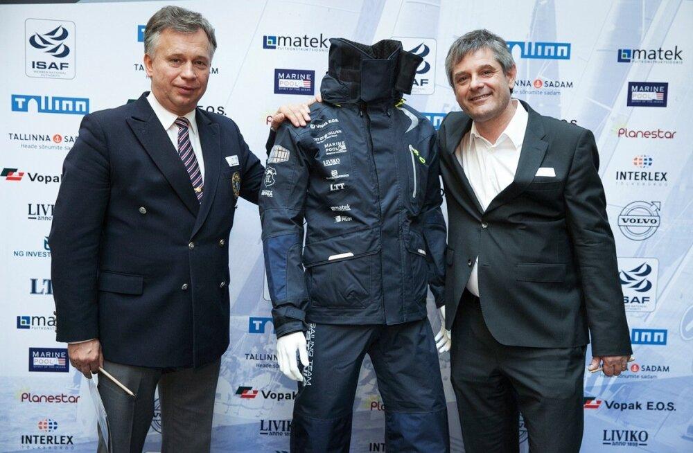 Eesti Jahtklubide Liidu president Egon Elstein (vasakul) ja Marinepool Sportartikel omanik Gerhard Eberle