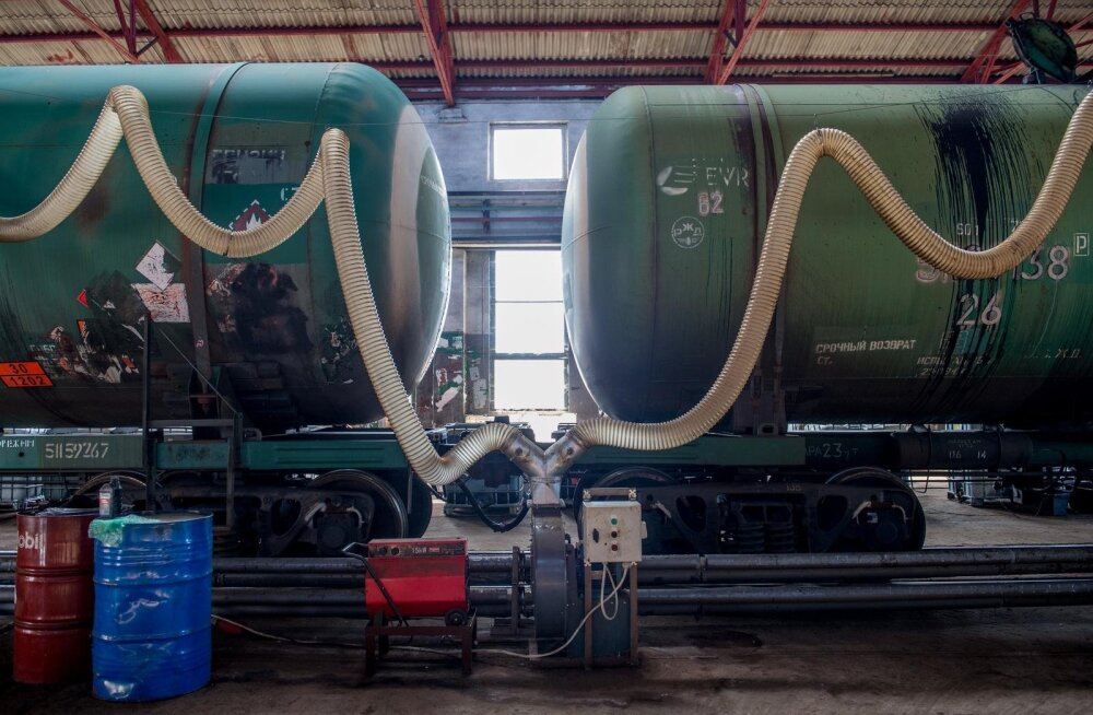 AS EVR Cargo, Tapa Depood, uue värvitsehhi nurgakivi panek, vana depoo