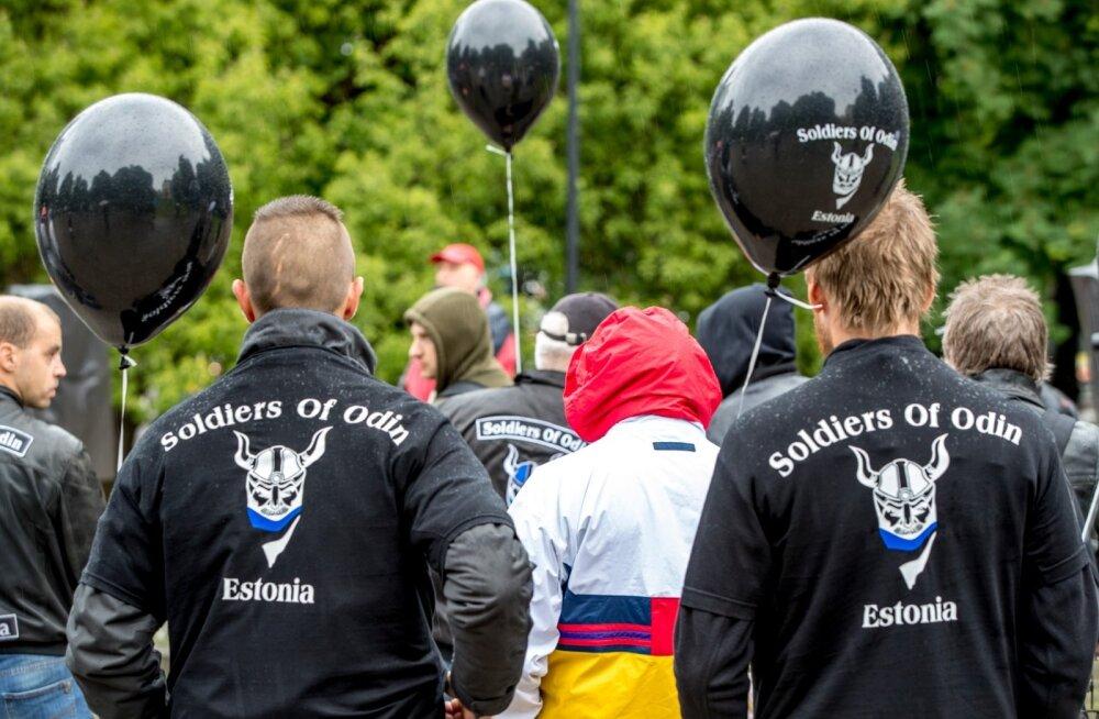 Eesti Odini sõdalased kogunesid Tammsaare pargis