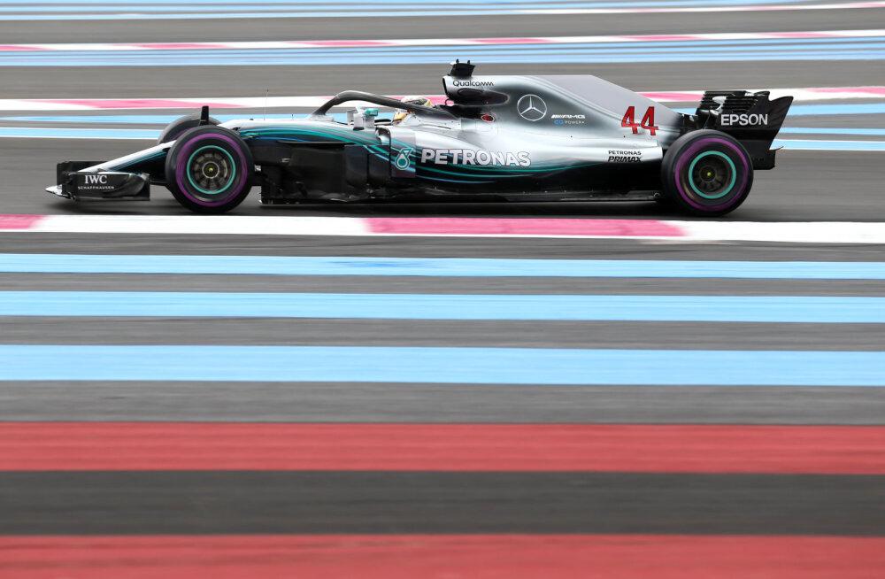 Prantsusmaa GP-d alustab parimalt stardikohalt Lewis Hamilton
