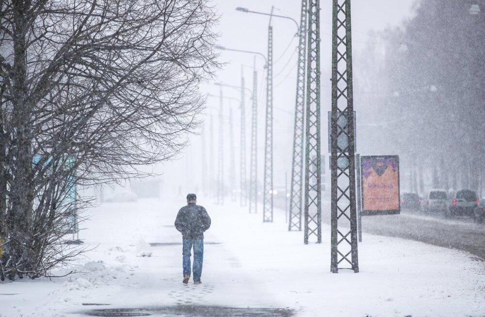 Talv läheneb! Nädalavahetusel sajab lund ja lörtsi