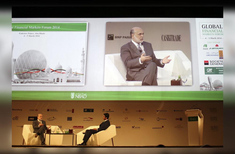 Bernanke teenis ühe esinemisega rohkem kui aastas Föderaalreservi juhina