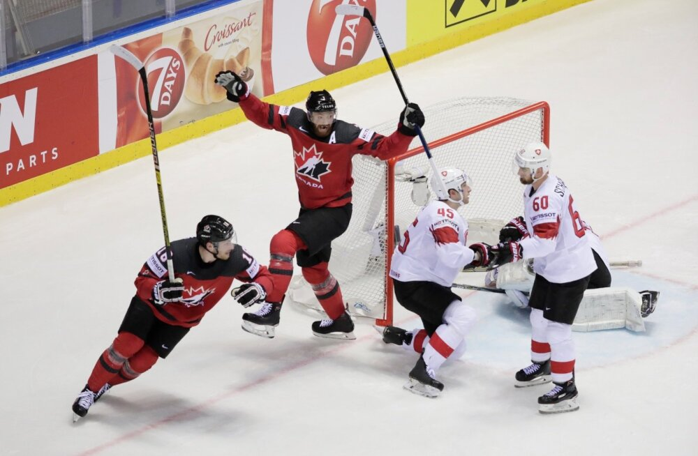 Kanada (punases) hokimehed võisid rõõmustada.