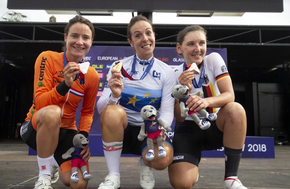 EMi naiste grupisõidu medalikolmik